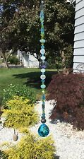Handmade Healing Blue Green Crystal Prism/Suncatcher W/Swarovski Elements USA