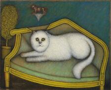 Angora Cat by Morris Hirshfield Giclee Canvas Print Repro