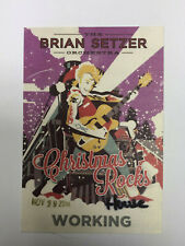 The Brian Setzer Orchestra 2014 Christmas Tour Satin Backstage Pass, Unused