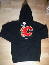 Calgary Flames Hoodie Sweatshirt MEN'S Small Face Off NHL Hockey Reebok