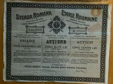 Etoile Roumaine - Steaua Romana - 500Lei - 1921
