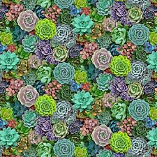 Fabric Succulents Real Full Elizabeth Cotton 1/4 Yard 599E