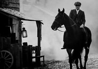 "Peaky Blinders,""Tommy On Horse"" Reproduction Poster, Black & White"