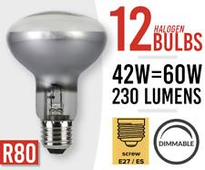 12x R80 Screw Spotlight E27 Reptile Basking Heat Bulb Lamp Spot Light Dimmable