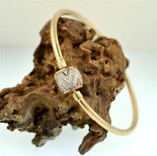 "Emma & Roe ""1/2CT DIAMOND SET 19CM CHARM BANGLE"" Guaranteed Genuine 10ct Gold"