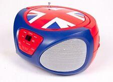 Portable CD Player Boombox AM/FM Radio Music System Stereo Speaker UK Flag NEW