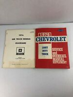 1976 Chevrolet Light Duty Truck Service and Overhaul Manual & GM wiring Diagrams