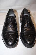 DEXTER Black Leather Cap Toe Oxford Shoes, Mens Size 9, USA-B14