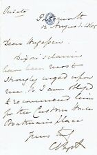 CRIMEAN War Admiral LORD CLARENCE PAGET SIGNED LETTER on ADMIRALTY Letterhead