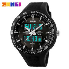 SKMEI Mens Waterproof Digital LED Rubber Quartz Military Sports Wrist Watch Gift
