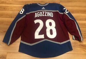 ANDREW AGOZZINO Colorado Avalanche MIC Made in Canada Adidas Hockey Jersey 56
