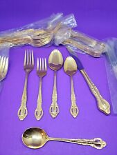 47 Piece Gold Plated Flatware PV