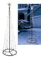 Metall Weihnachtsbaum in Kegel Form - 96 LED / 180 cm - Deko Lichter Baum Außen