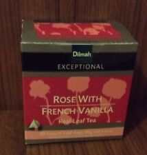 3 Packs of 20 Dilmah Exceptional Tea Bags - Rose With French Vanilla - NEW