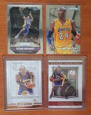 9 NBA Kobe Bryant cards (Prizm, Anthology, Excalibur, Elite)