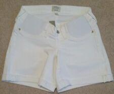 J Crew Maternity denim short white C3417 Sz 25 dipped waistline $89.50 Pull On