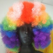 Deluxe Clown Rainbow Afro Wig NEW Facepainting Clowning