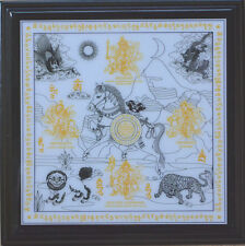 Feng Shui Windhorse With Mantras Plaque Brings Victory and Success