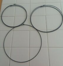 "Macrame Rings (7"", 8"", 9"" In Diameter), Set Of 5, Hook Closures"