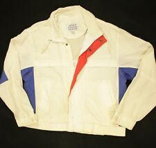 Vintage Levis Jacket Wind Breaker Track Zippered Thunder River Red White Blue