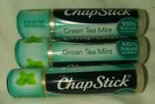 Chapstick 3 Piece Lot Green Tea Mint Great Scent And Flavor!