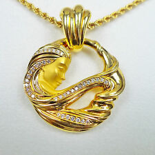 "Carrera Y Carrera Women's 18k Yellow Gold Diamond Pendant 17"" Chain"