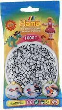 Hama 1000 Midi Bügelperlen 207-70 Hellgrau Ø 5 mm Perlen Steckperlen Beads