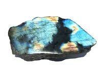 Labradorit Anschliff - Rohstein anpoliert - irisierende Farben | 05