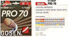 Gosen Badminton string PRO 70, 0,70 mm, set 10m, White