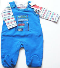 Strampler Shirt Gr.50 Kanz NEU m.E City blau Set sweat Frühchen baby ssv