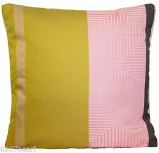 Designers Guild Silk Fabric Cushion Cover Woven Pink Grey Gold Yellow Square 16