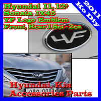 New YF Logo Grille Trunk Emblem Badge For 2011 2012 Hyundai Sonata IX45 1Set-2ea