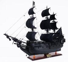 "Black Pearl Caribbean Pirate Tall Ship Wooden Model 35"" Sailboat Built Boat"