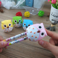 Novelty Gift 2Pcs Cute Lovely Owl Pencil Sharpener School Kids Stationery
