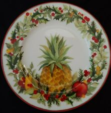 Andrea By Sadek Williamsburg Holiday Jubilee Salad Plate(S) 7 1/2""