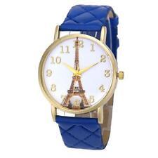 Paris Eiffel Tower Women Watch Faux Leather Analog Quartz Dress Wrist Watch New