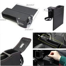 Leather Driver Side Left Seat Gap Slit Car Black Storage Pocket Box Organizer
