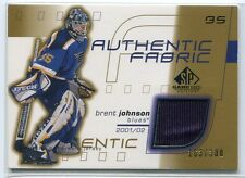 2001-02 SP Game Used Authentic Fabric Gold BJ Brent Johnson Jersey 163/300