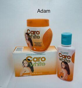 Caro White Lightening 3 Pcs Set With Carrot Oil 1.7oz ,120ml Jar+FREE SHIPPING