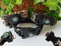 Tactical Edge 5 in 1 Survival Bracelet Camping Hiking Outdoor Scout Cadet Guide