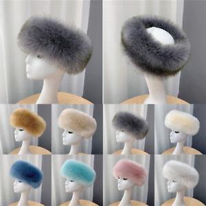 Women Warm Head Bands Ski Head Bands Faux Fur Hats Ear warm Winter Fluffy Gifts