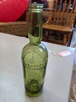 vintage embossed G de Chartreuse green bottle