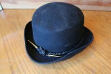 2eb2e452850df Dobbs Flattery bowler Hat black size 7 1 4 rope with brass ends vintage hat