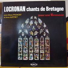 LOCRONAN CHANTS DE BRETAGNE POUR UNE TROMENIE PRONOST/AUFFRET LP STUDIO 22