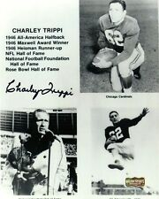 """Charley Trippi Autographed/Signed Georgia Bulldogs Collage 8x10 Photo """"In Black"""""""