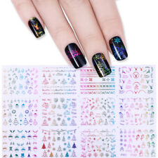 Christmas 3D Nail Art Stickers Santa Claus Deer Manicure Adhesive Transfer Decal