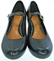 Clarks Dalia Lily Mary Jane Pumps Women's UK 5D US 7.5M Black Leather Heel Shoes