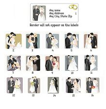 Personalized Return Address Labels Wedding Bride & Groom Buy 3 Get 1 free(w1)