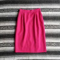 Vtg USA Made Hawksley Wight Sz 8 100% Wool Below Knee Midi A-Line Skirt Pink