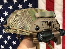 Maritime helmet Opscore + Crye MESH cover, helstar 6 V-light SF scout flashlight